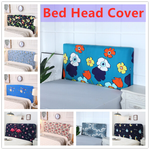 Bed Head Cover 120-220cm All-inclusive Fabric Dustproof Elastic Double Bed Headboard Cover Protective Cover
