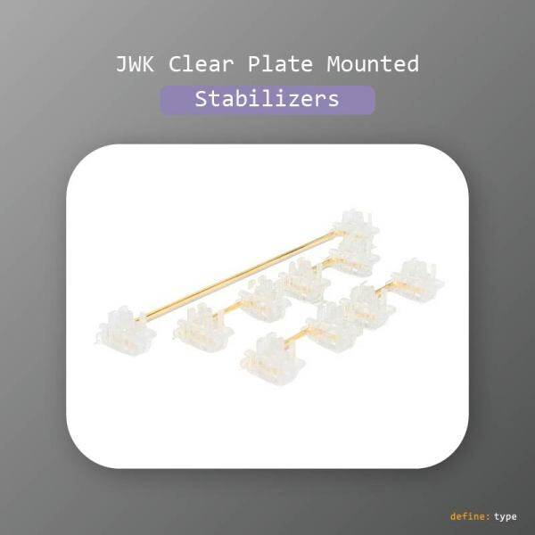 JWK Everglide Panda v3 Clear Transparent Plate-Mounted Stabilizers for Mechanical Keyboard Malaysia