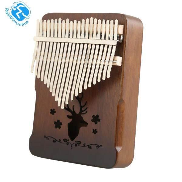 Vintage 21 Keys Reindeer Kalimba Acacia Musical Instrument Thumb Piano Malaysia