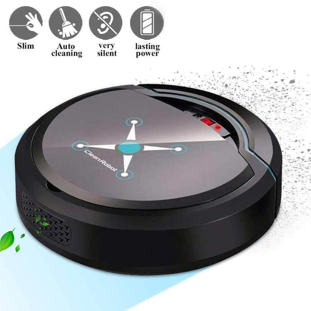 WithRitty USB ชาร์จอัตโนมัติสมาร์ทหุ่นยนต์ที่ทำความสะอาดพื้นสุญญากาศในครัวเรือนอุปกรณ์กวาดพื้น ดูดเซนเซอร์อัจฉริยะ Self - CHARGING เครื่องดูดฝุ่นหุ่นยนต์