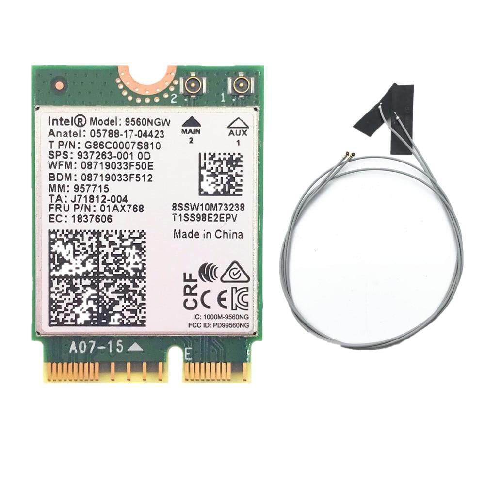 Giá Với 2 Ăngten Cho Cho Intel AC 9560 9560NGW 1.73Gbps Không Dây Thẻ NGFF M2: cnvi Card Wifi 802.11ac Bluetooth 5.0 Cho Windows 10