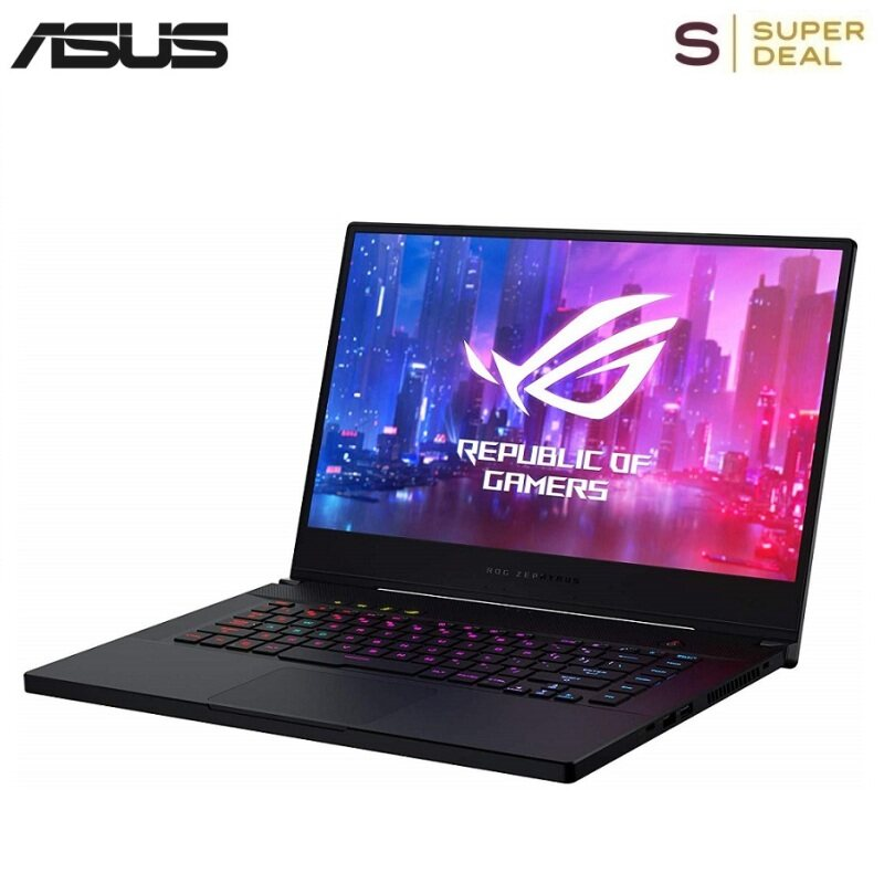 """ROG Zephyrus S Thin and Portable Gaming laptop(15.6"""" 144Hz FHD IPS, GeForce RTX 2060, i7-9750H, 16GB DDR4 RAM, 512GB PCIe SSD) Malaysia"""