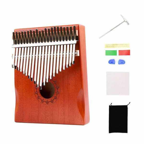 21-Key Portable Wooden Kalimba Thumb Piano Mbira with Carry Bag Tuning Hammer Cleaning Cloth Finger Protector Stickers Music Book for Music Lovers Beginners Students (Standard) Malaysia