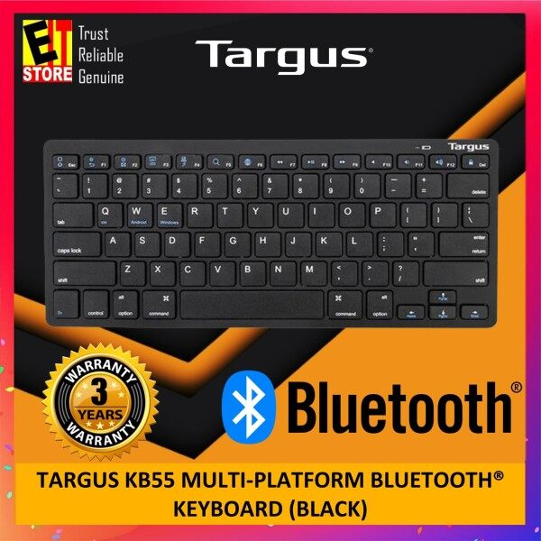 TARGUS KB55 MULTI-PLATFORM BLUETOOTH® KEYBOARD (BLACK) - AKB55 Malaysia