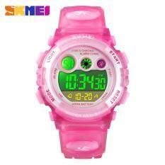 SKMEI ยี่ห้อกีฬาเด็กนาฬิกา LED กันน้ำดิจิตอลเด็กนาฬิกาหรูหรานาฬิกาอิเล็กทรอนิกส์สำหรับเด็กเด็กหนุ่ม ๆ สาว ๆ ของขวัญ