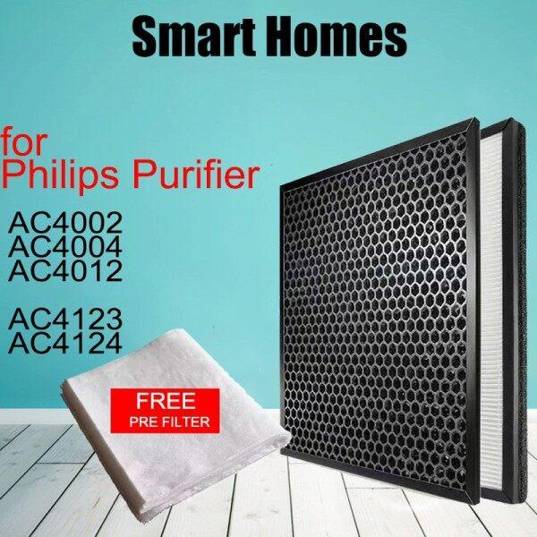 Fit Philip AC4012 AC4123 , AC4124, Bộ Lọc HEPA & Carbon Thay Thế Tương Thích
