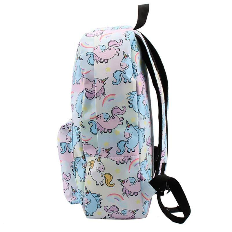 Unicorn Power Colorful Rainbow Girl 16 Inches Backpack