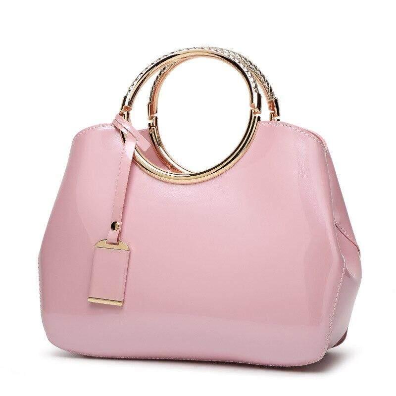 Luxurious Women Handbag Brand Design Patent Leather Solid Evening Bags High Quality Messenger Crossbody Bag For Women Bride Tote