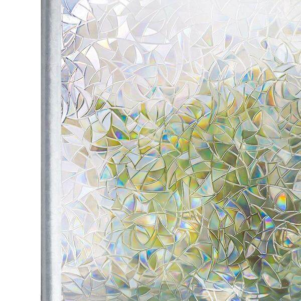 Tinted 3D No Glue Static Decorative Privacy Window Rainbow Films for Stained Glass Non-Adhesive Film Anti UV Glass Sticker