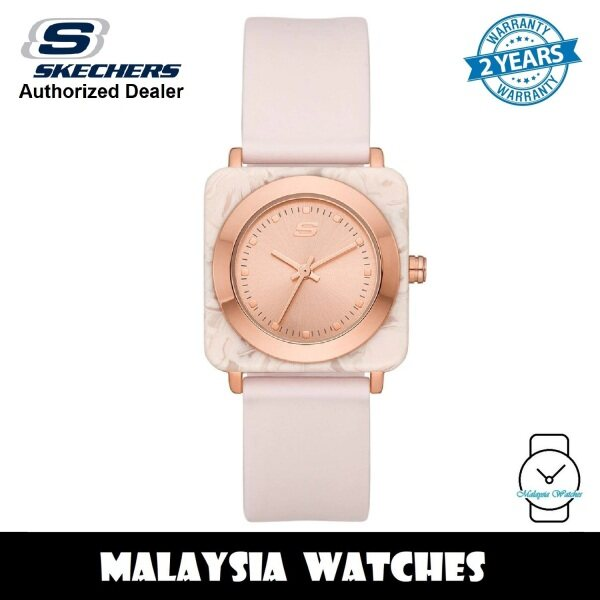 (OFFICIAL WARRANTY) Skechers SR6209 Alloy Case Rose Gold-Tone Dial Blush Pink Silicone Strap Womens Watch (2 Years Warranty) Malaysia