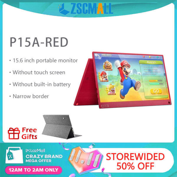 """11.11 ZSCMALL Portable Monitor 15.6"""" USB Type-C Full HD 1080 IPS USB C Portable Monitor Built-in Dual Speakers Compatible with Laptop Computer Raspberry pi Gaming Monitor for PS4 PS3 Xbox Free Shipping(Send 16G SD Card)) Malaysia"""