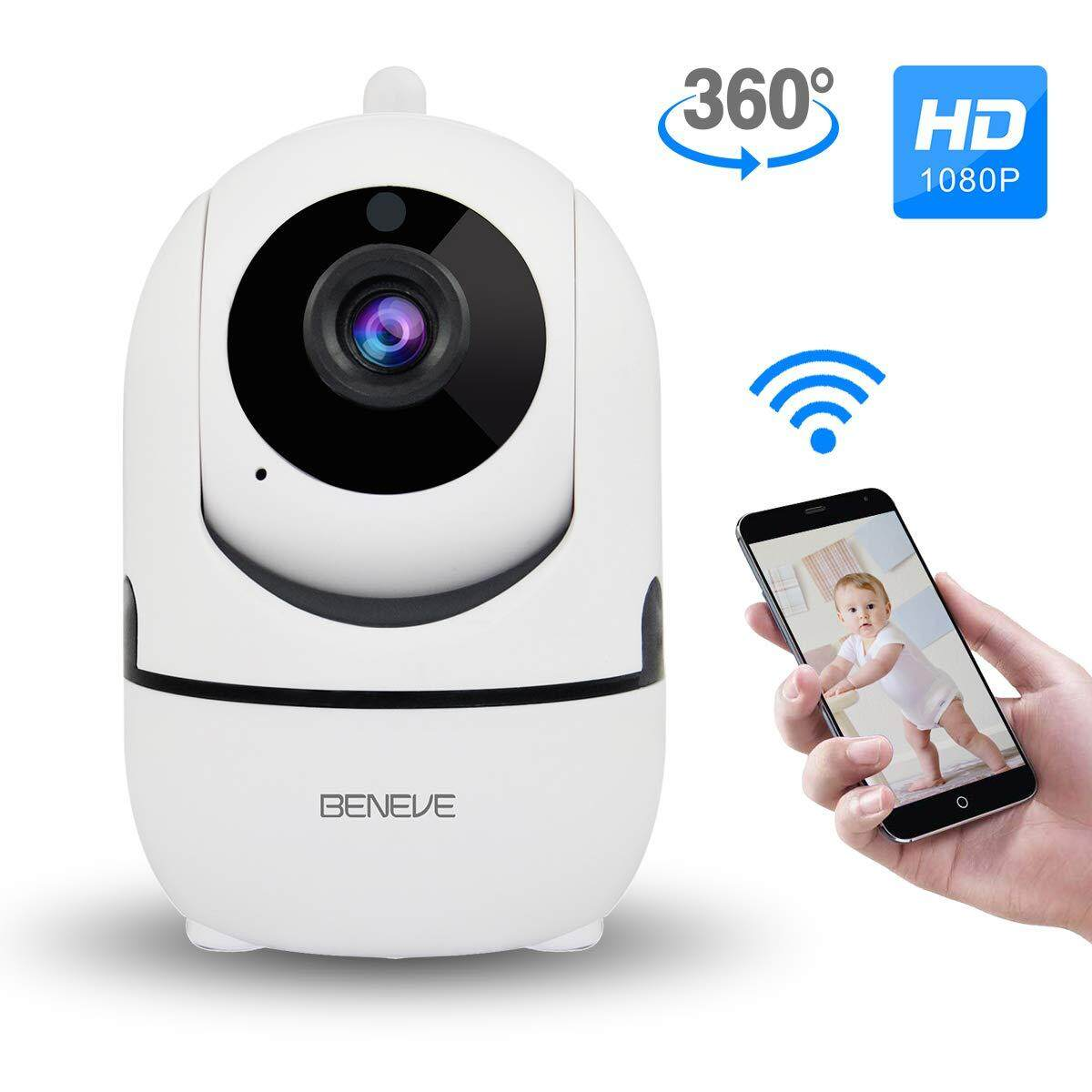 720p Wifi Panoramic Camera 360 Degree Fish-eye Smart Home Security Surveillance Baby Monitor Webcam Wireless Night Vision Camera Security & Protection