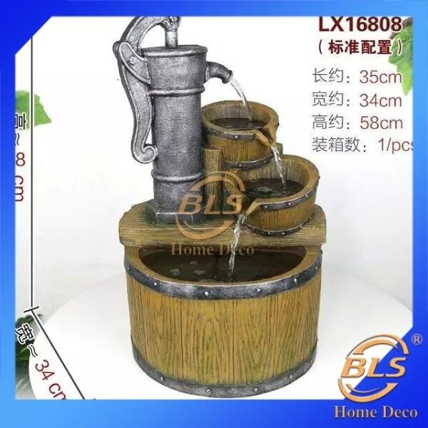 Water Fountain - 16808 WATER FEATURE FENG SHUI HOME DECO