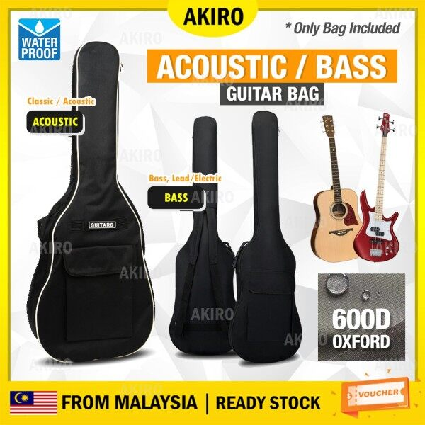 AKIRO Malaysia Waterproof Guitar Bag Double Straps Thick Backpack Acoustic Bass Electric Pad Oxford Soft Case 40/41 Inch Beg Malaysia