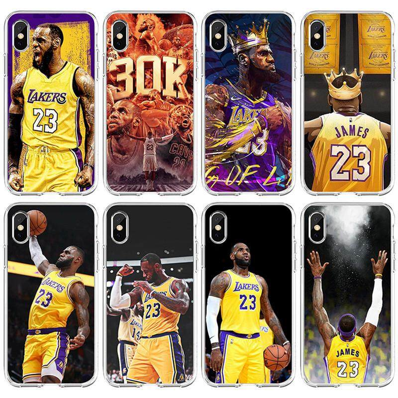 57bb13fa26 Product details of Popular NBA Basketball Player Star LeBron James iPhone  5s 5 SE 6 6s 7 8 Plus X XS Max Case Cover Cartoon Soft TPU Protective  Shockproof ...