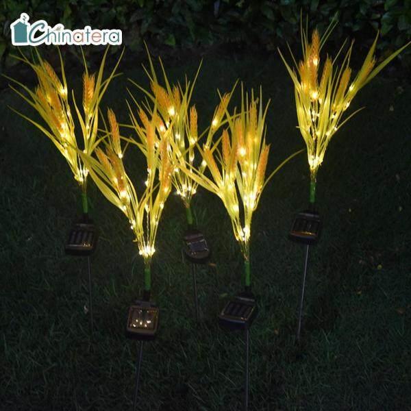 [Chinatera] 2 Đèn LED Năng Lượng Mặt Trời, Đèn Lúa Mì Mô Phỏng Đèn Bãi Cỏ Đèn Cảnh Quan Sân Vườn Ngoài Trời Không Thấm Nước