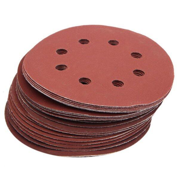 25Pcs 5inch 8 Hole Grit 600# 1000# 1200# 1500# 2000# Sander Sanding Disc Sandpaper
