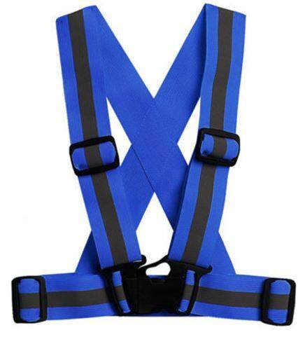 (Stock in Malaysia) Outdoor Running Cycling Motorcycle Elastic Reflective Vest Harness Safety