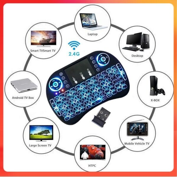 (Ready Stock)Mini keyboard mouse i8 2.4Ghz Wireless Touchpad Keyboard and Mouse For Ps4 Google Android Tv Box gaming Malaysia