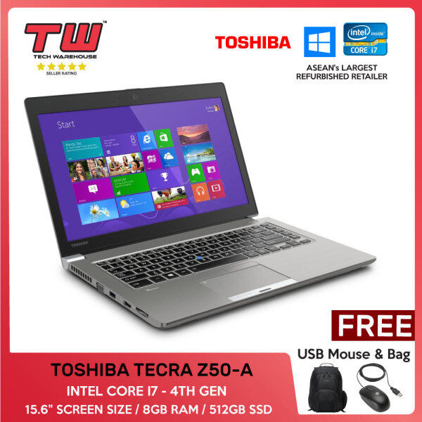 TOSHIBA TECRA Z50-A / INTEL CORE I7 4TH GEN / LAPTOP / 15.6 / 8GB RAM / 512GB SSD Malaysia