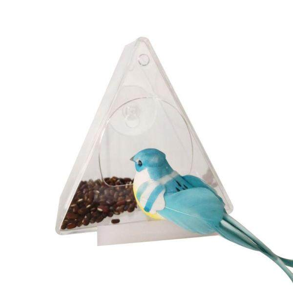 Pet Bird Feeder Treo Hút Hấp Phụ Loại Trong Suốt Acrylic Hộ Gia Đình Chim Vẹt Thiết Bị Cho Ăn