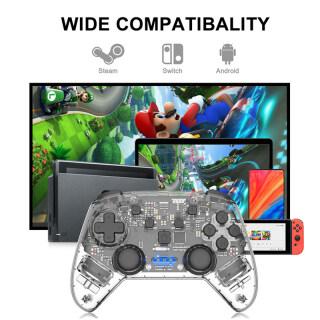 Công Tắc Không Dây Ếch Dữ Liệu, Pro Điều Khiển, Máy Chơi Game Nintendo Switch Tay Cầm Chơi Game Rung Kép Cho Nintendo Switch Lite Cho PC thumbnail