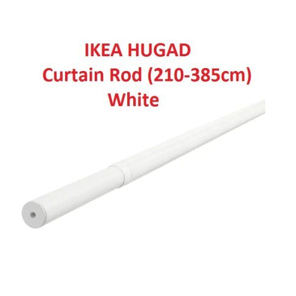 IKEA HUGAD White Curtain Rod (210-385cm) 202.171.31 (Ready Stock)