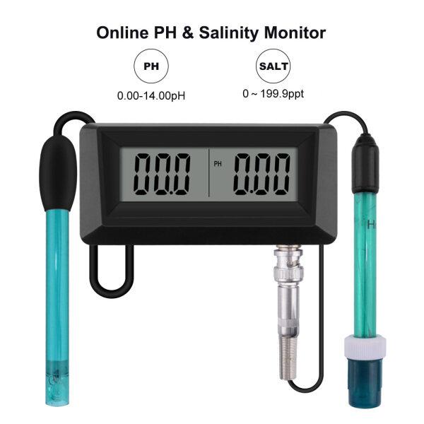 Presales RCYAGO Online pH & Salinity Monitor Temperature ATC with Probe