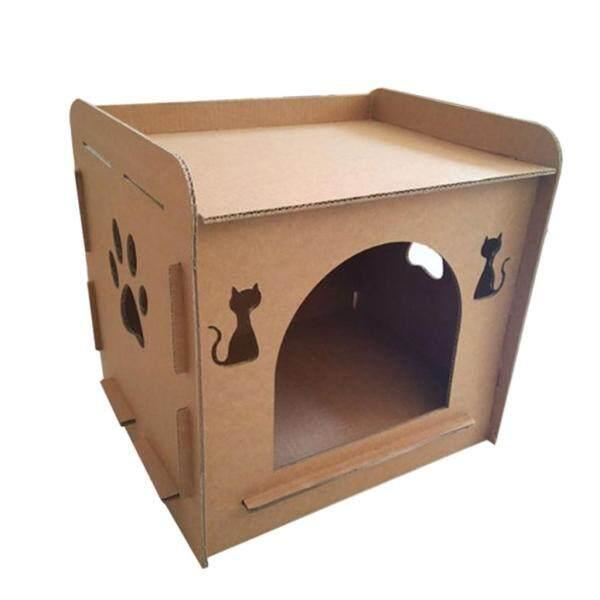 Mèo Cưng Scratcher Mèo Con Nhà Cho Mèo Hình Tổ Giường Ngủ Chân Mài Đồ Chơi Nhai