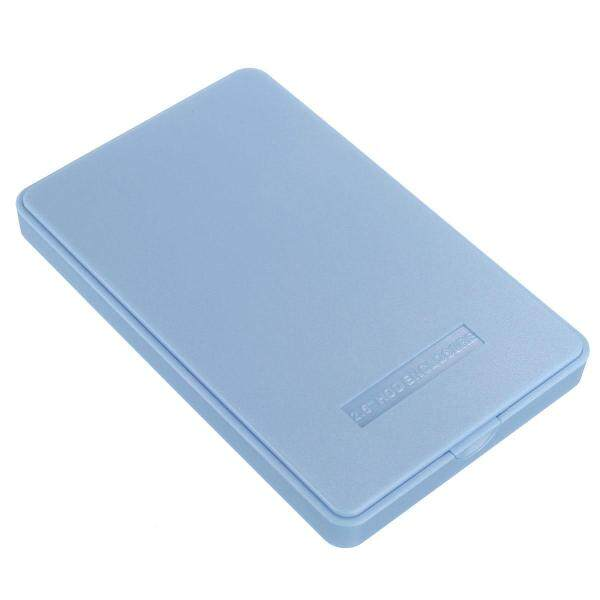 Giá Vỏ Bọc Ổ Cứng USB 2.0 Cho Vỏ Đựng Ổ Cứng 2.5Inch HDD-Trắng-Xanh Dương (Xanh Dương)