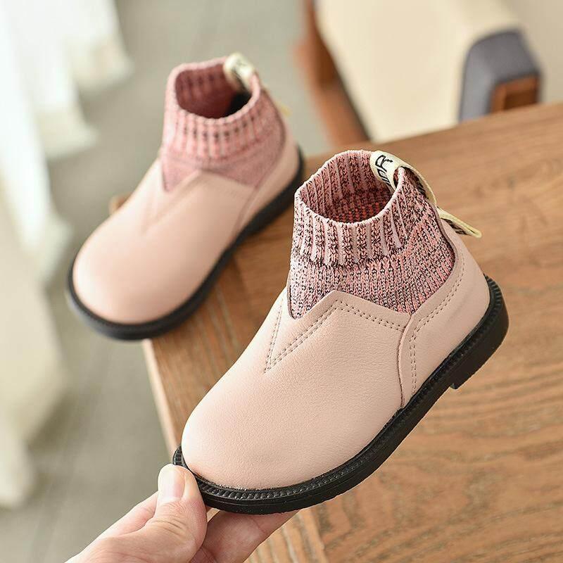 Bé nhỏ Giày 2019 mùa thu đông Mới Hàn Quốc bé gái công chúa giày len miệng nhỏ giày bé gái giày tập đi cho bé