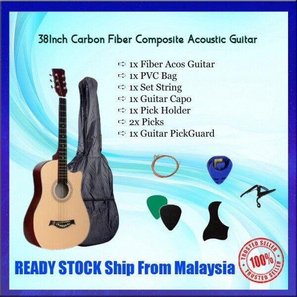 38 Inch Carbon Fiber Composite Acoustic Guitar Combo SET/Package SET Malaysia