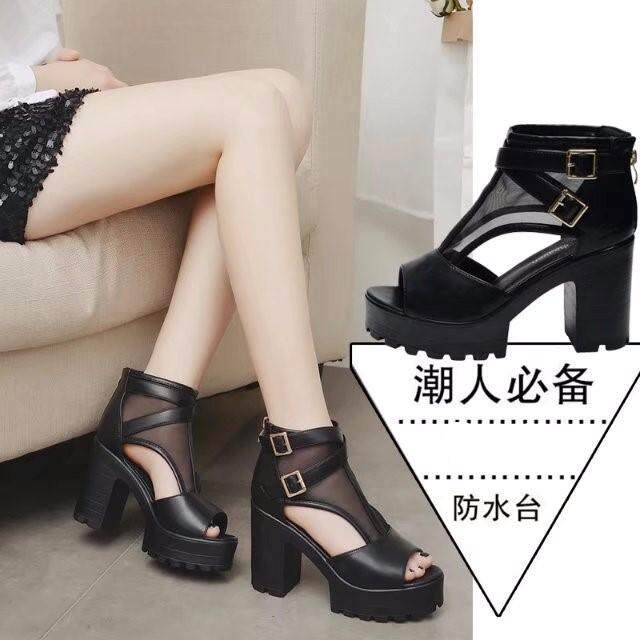 New And Fashion Women's Sandals High-Heeled Leather Shoes Casual Shoes Heeled Sandals High Heels By Xin Xin Shop.