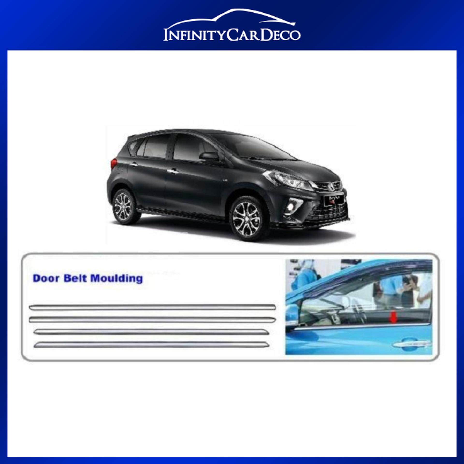 Perodua Myvi 2018 Chrome Door Belt Moulding Trim Cover By Car Deco.