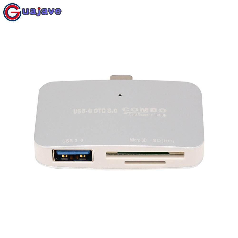 Guajave 3 Trong 1 Loại C sang USB 3.0 OTG HUB Combo Adapter Đọc Thẻ Nhớ cho SD Thẻ TF