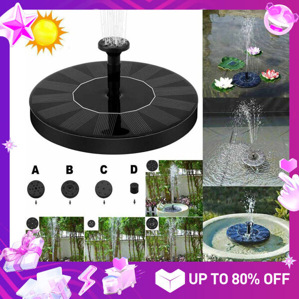 Strawberry QE 【Hot Sale Ready Stock 】Outdoor Mini Solar Powered Fountain Floating Water Pump Fountain For Home Garden Pool Fish Pond Decoration