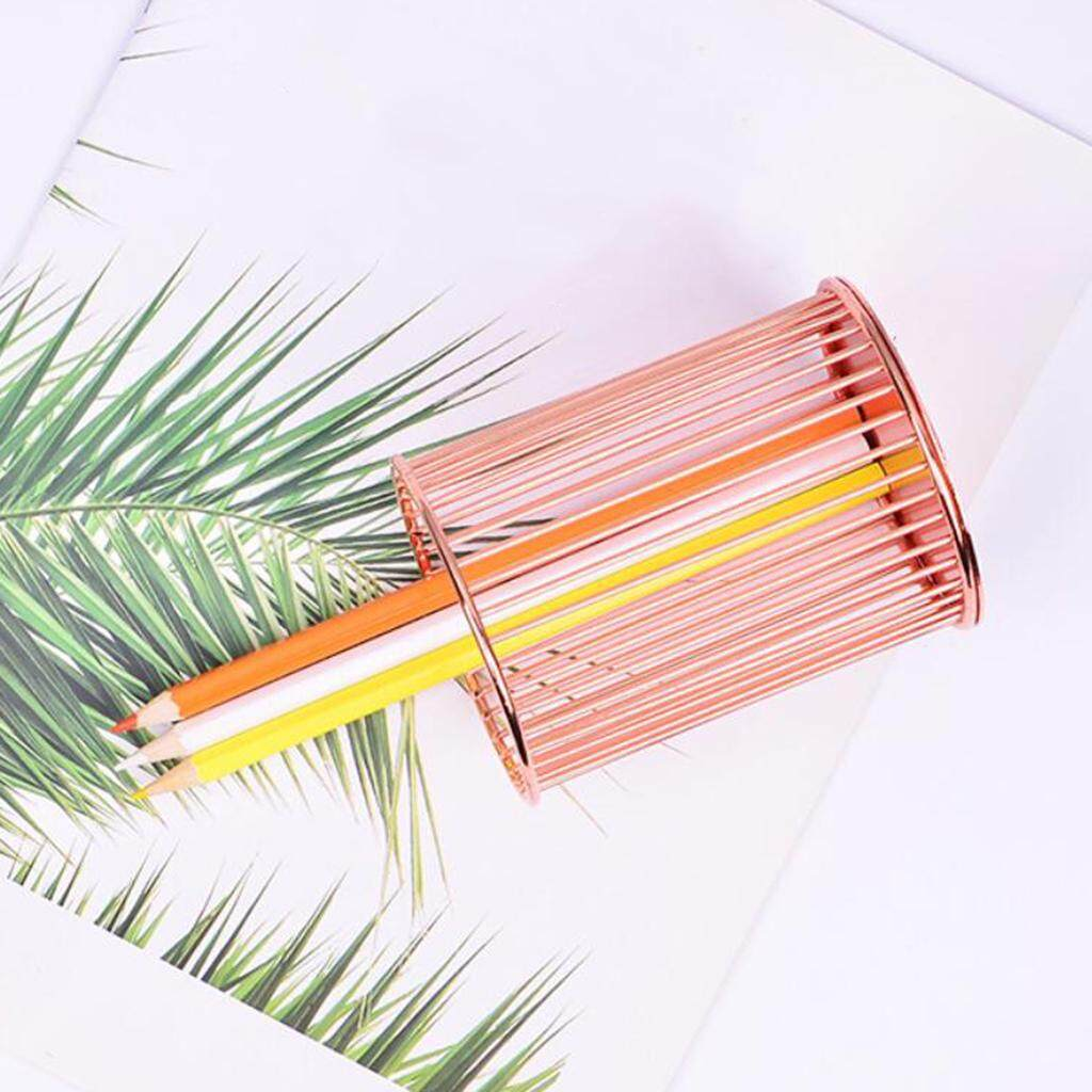 Loviver Rose Gold/ Gold Wire Mesh Pen Pot, Brush Pencil Holder, Makeup Organiser, Solid - High Quality By Loviver.