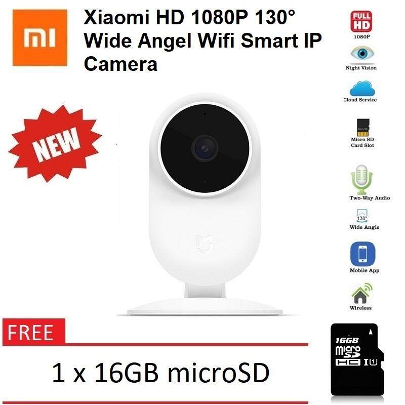 Xiaomi Mijia Mi Home Smart Security Camera 130 Wide Degree 1080p WiFi IP  Cam ANTS IR Night Vision FREE 1 x 16GB microSD