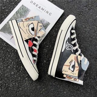 Naruto Giày Người Đàn Ông Phim Hoạt Hình Giày Giày Tiện Dụng Giảm Đau Akatsuki Giày Vải Senju Hashirama Itachi Sasuke Sneakers Kakashi Phụ Nữ Giày thumbnail