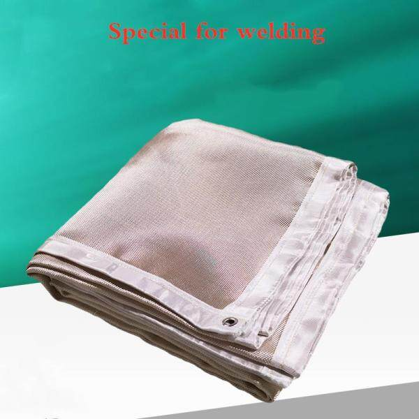 Thicken 1mm Gold 1.5m*1.5m Electric Welding Blanket Fire Blanket Welding Blanket Shipyard Electric Welding Factory 4s Shop