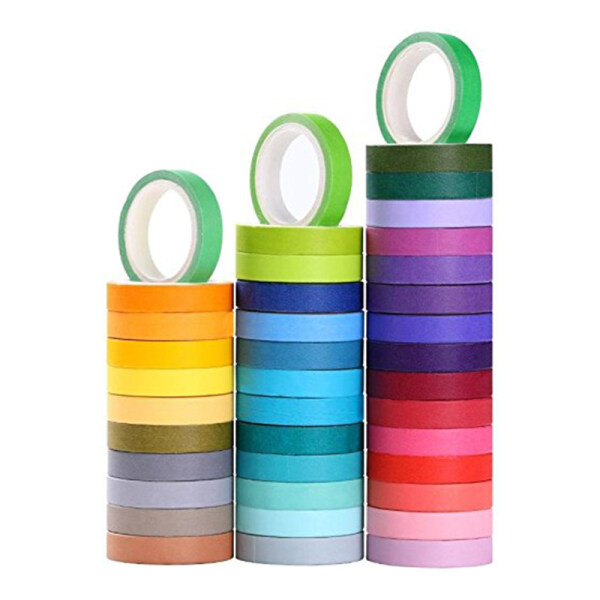 Mua 40 Rolls Washi Tape Set, Decorative Masking DIY Tapes for Children and Gifts Warpping (Mix)