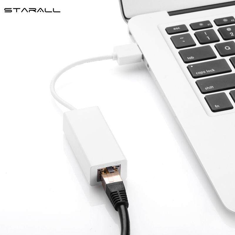 Starall Usb 2.0 To Rj45 Ethernet Adapter Lan Networks 10/100 Mbps For Macbook Win7 By Starall.