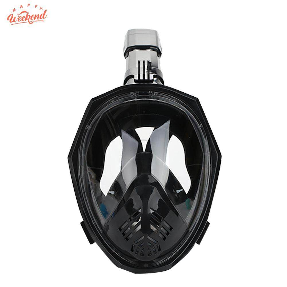 Swimming Mask Scuba Dry Submersible Mask Durable Full Face Anti Fog Breather Pipe Snorkel