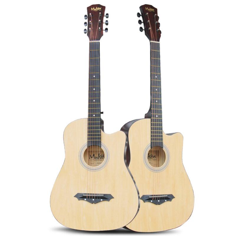 Mukita by BLW Standard STUDENT SERIES Acoustic Folk Cutaway Basic Guitar 38 Inch for beginners Malaysia