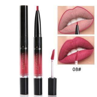 Lipliner Lipstik Tahan Air, Lipliner Ujung Ganda, Pensil Garis Bibir 14 Warna thumbnail