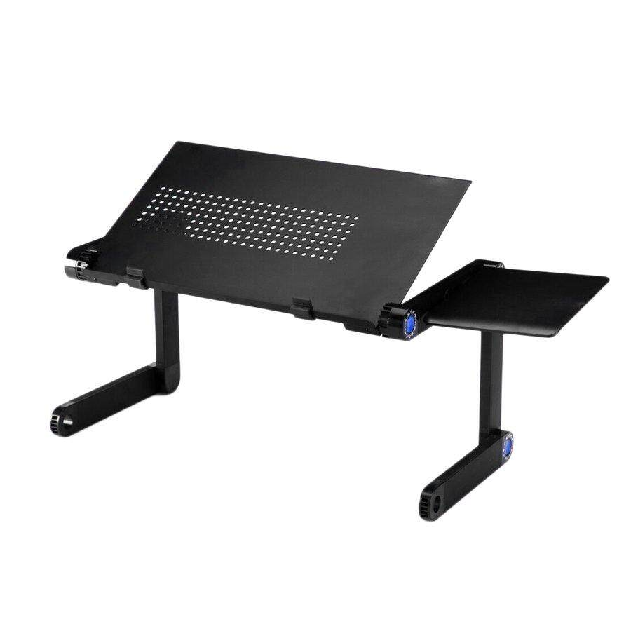 Hot Deals Foldable Aluminum Alloy Laptop Notebook Cooling Desk Stand With Mouse Plate Malaysia