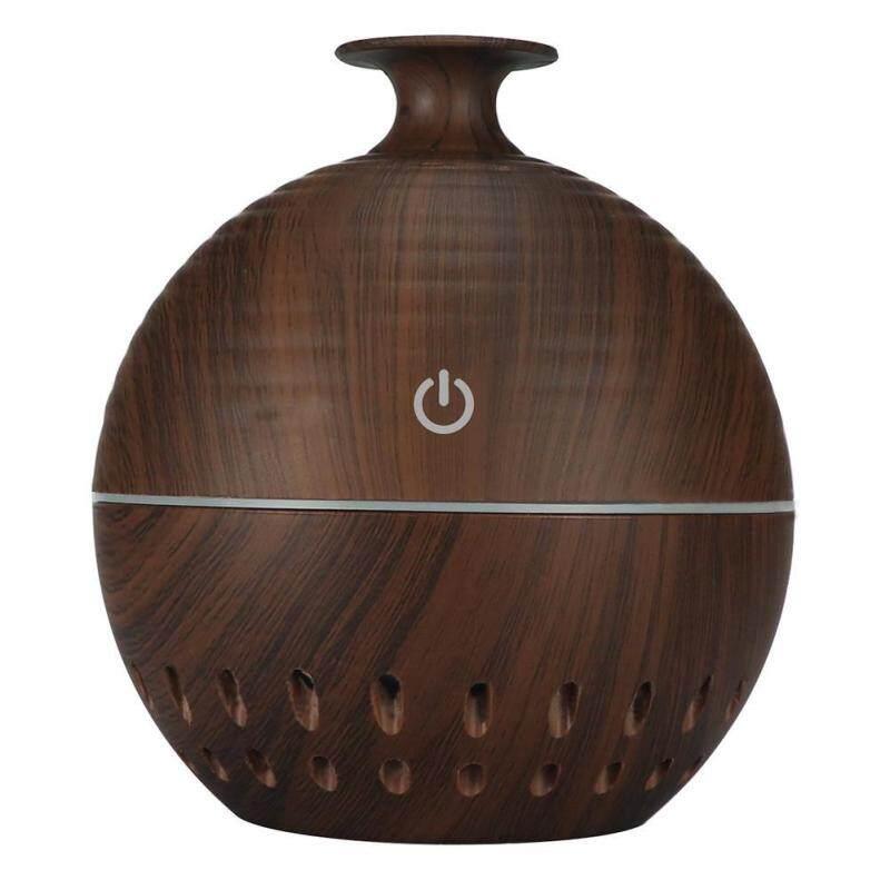 「winnereco」130mL Wood Grain USB Aroma Essential Oil Diffuser Ultrasonic Humidifier Singapore