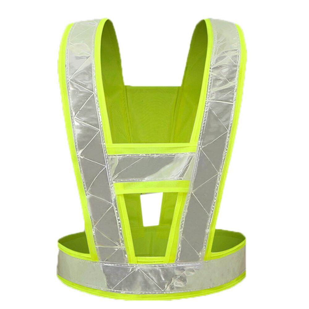 V Shape Safety Reflective Vest for Traffic Construction Night Running Jogging Cycling Stay Visible