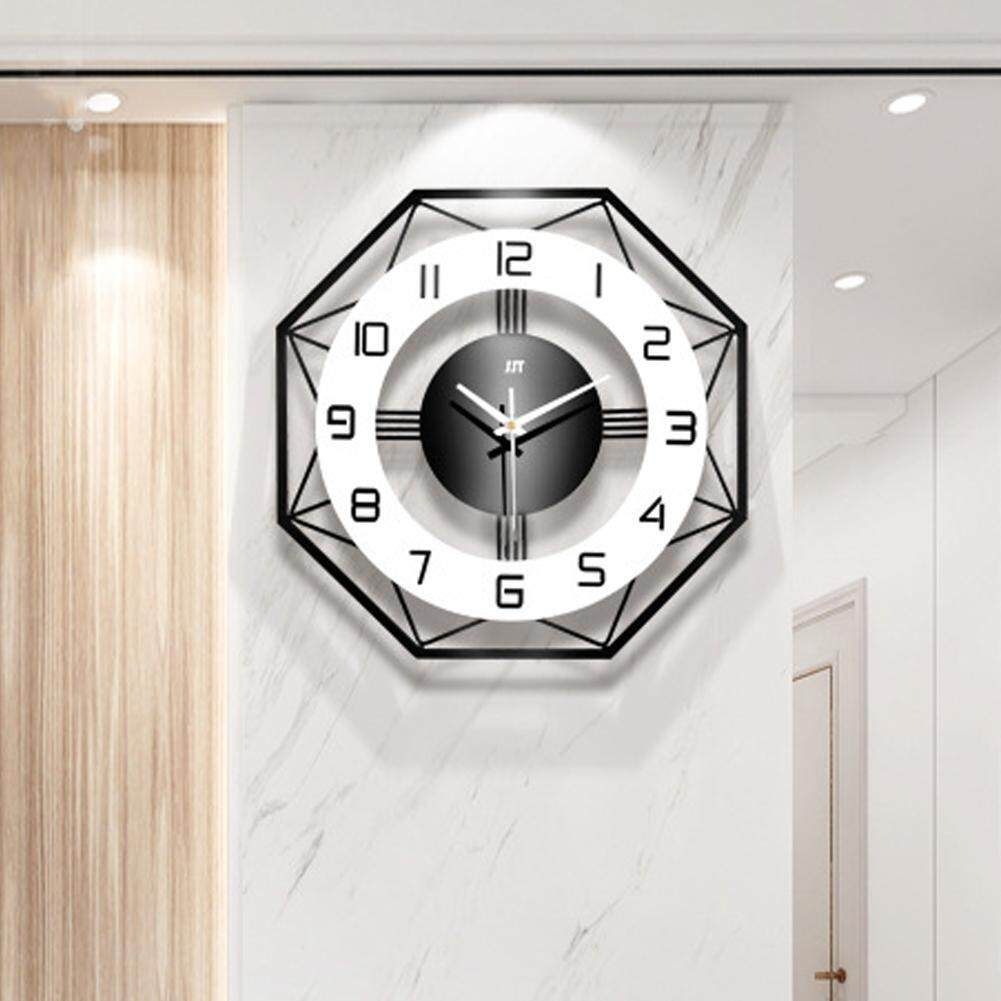 Ymingqi Iron Modern Wall Clock Large 3D Non Ticking Silent Clock For Living Room Decor