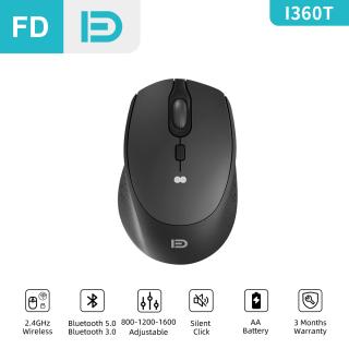 Chế Độ Đông FD I360t Chuột Không Dây Im Lặng 2.4GHz Hai Bluetooth 800 1200 1600DPI Cho Máy Tính Xách Tay Máy Tính Để Bàn Máy Tính Xách Tay Cảm Giác Tay Tuyệt Vời thumbnail